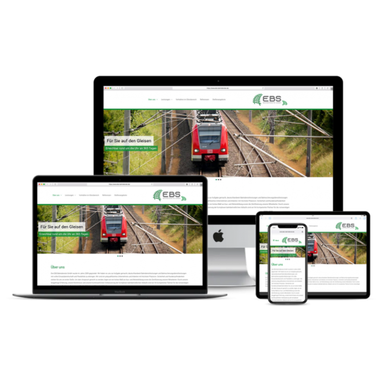 Internetseite Ebs-Bahndienste