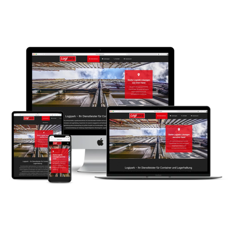 Logipark GmbH Internetseite